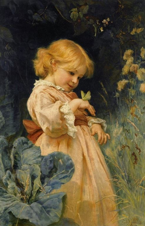 """The Butterfly"" -- by Frederick Morgan (1847 – 1927, English)"