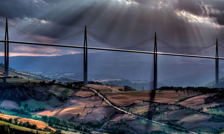 Millau Viaduct, A Cable-Stayed Bridge In France By Patrick Landmann