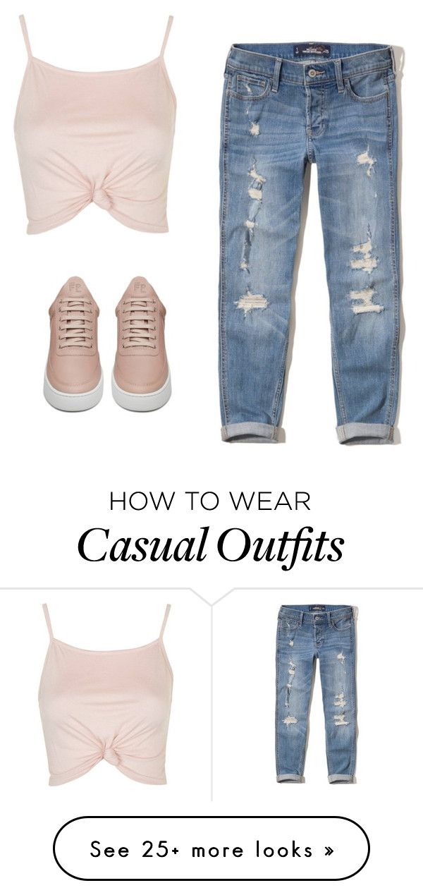 """a super casual look"" by dias123 on Polyvore featuring Topshop, Hollister Co. and Filling Pieces"