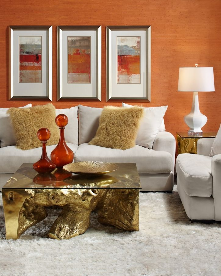383 best Decorating with Orange images on Pinterest | Living room ...