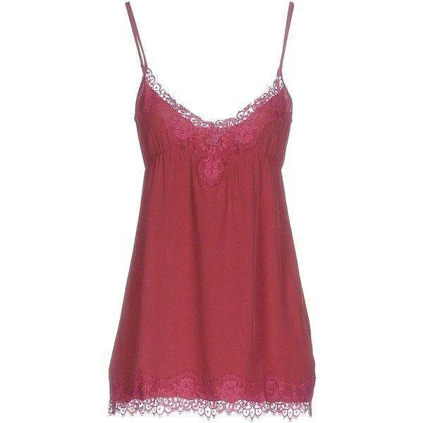Blugirl Blumarine Underwear Slip ($69) ❤ liked on Polyvore featuring intimates, garnet, lacy slip, lace slip and blugirl