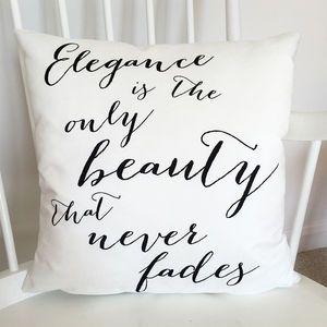 Audrey Hepburn Elegance Quote Cushion                                                                                                                                                      More