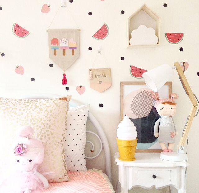 Super sweet little girls interior! love the art print x