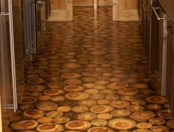 Flooring Ideas Cordwood Construction Creating A Space