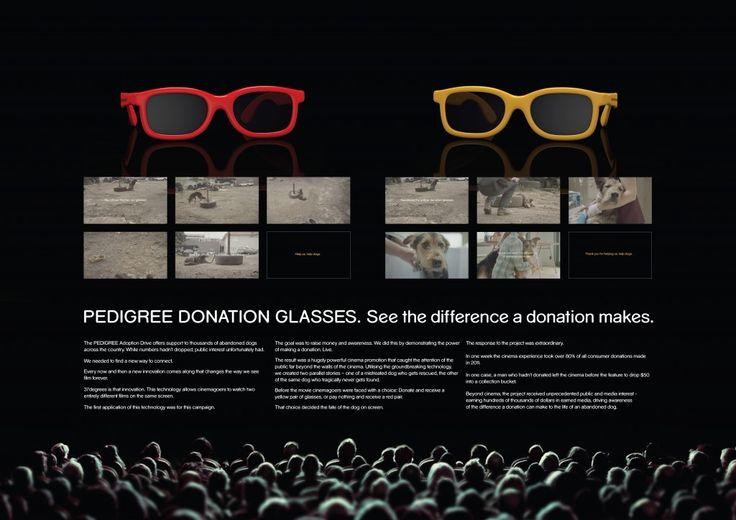 "Pedigree - ""Donation Glasses (Board)"" Cannes Lions International Festival of Creativity 2012"