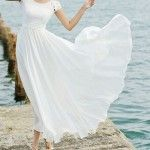 White Lace Maxi Dress Maxi Chiffon Dress Short Sleeved Extra Large Hem Wedding At Fashiondress1 In Etsy: Stylish Maxi Dresses For Wedding | Waporlima Fashion