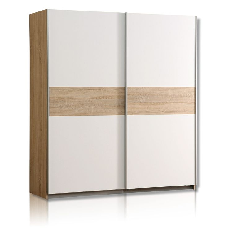 Schwebetürenschrank WINNIE - Sonoma Eiche-weiß - 170 cm