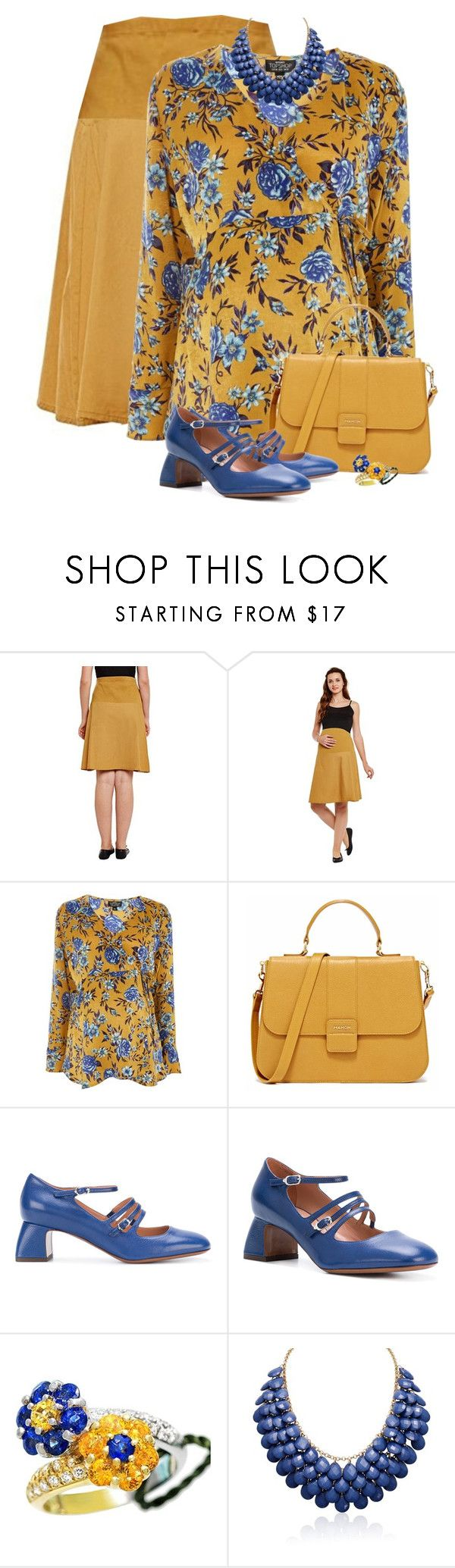 """Maternity Floral Wrap Top"" by dkelley-0711 ❤ liked on Polyvore featuring Topshop, L'Autre Chose, Gregg Ruth, Adoriana, topshop and GregRuth"