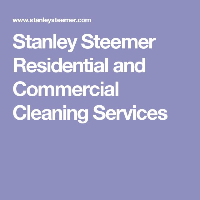 Stanley Steemer Residential and Commercial Cleaning Services