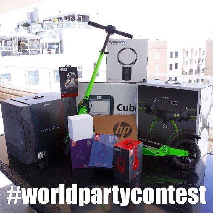 GIVEAWAY ALERT!!!The #WorldPartyContest is running NOW and winners will be selected Monday February 29th at 6:00 pm PSTon @marijuanadon Instagram page. Grand Prize -All expense paid trip for 2 to the Advanced Nutrients World Party in Spain!!! 2nd place - Electric @uscooters travels 18 mph & 21 miles in distance. 3rd place -High end CUBE 3D printer 4th place -XBOX One HALO 5 edition 5th place - Drone @hobbytron Protocol Galileo with HD Camera built in controller 6th place -APPLE Watch 7th…