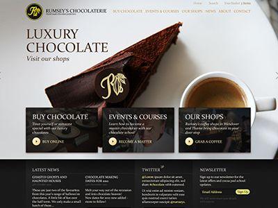 webdesign, luxury chocolate