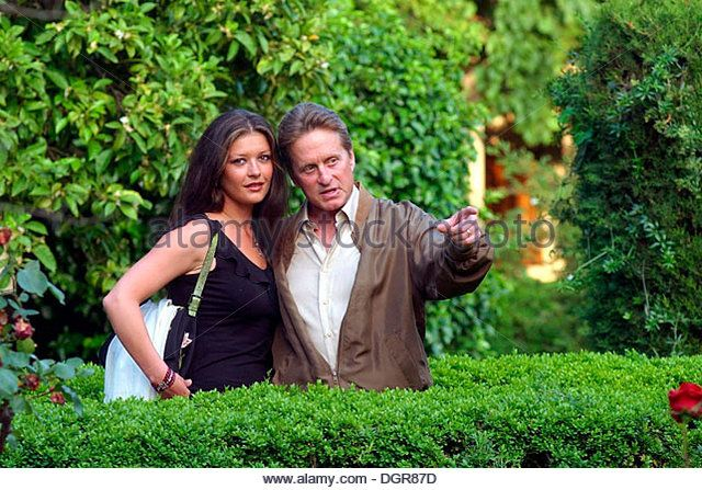 US actors Michael douglas and Catherine Zeta Jones are seen during an event in the Spanish island of Mallorca - Stock Image