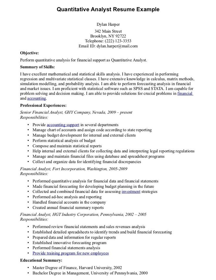 financial analyst skills resume best example junior finance major resumes template