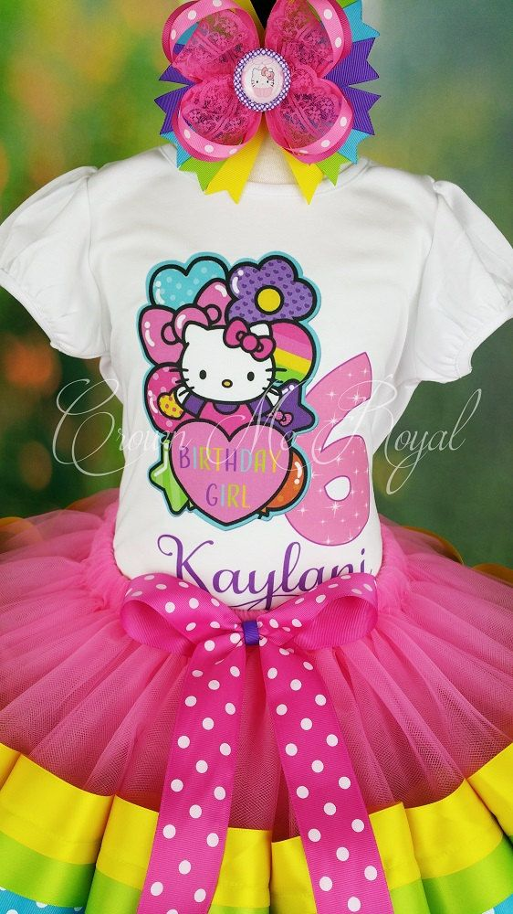 Hello Kitty Tutu Hello Kitty Dress Hello by CrownMeRoyalBoutique