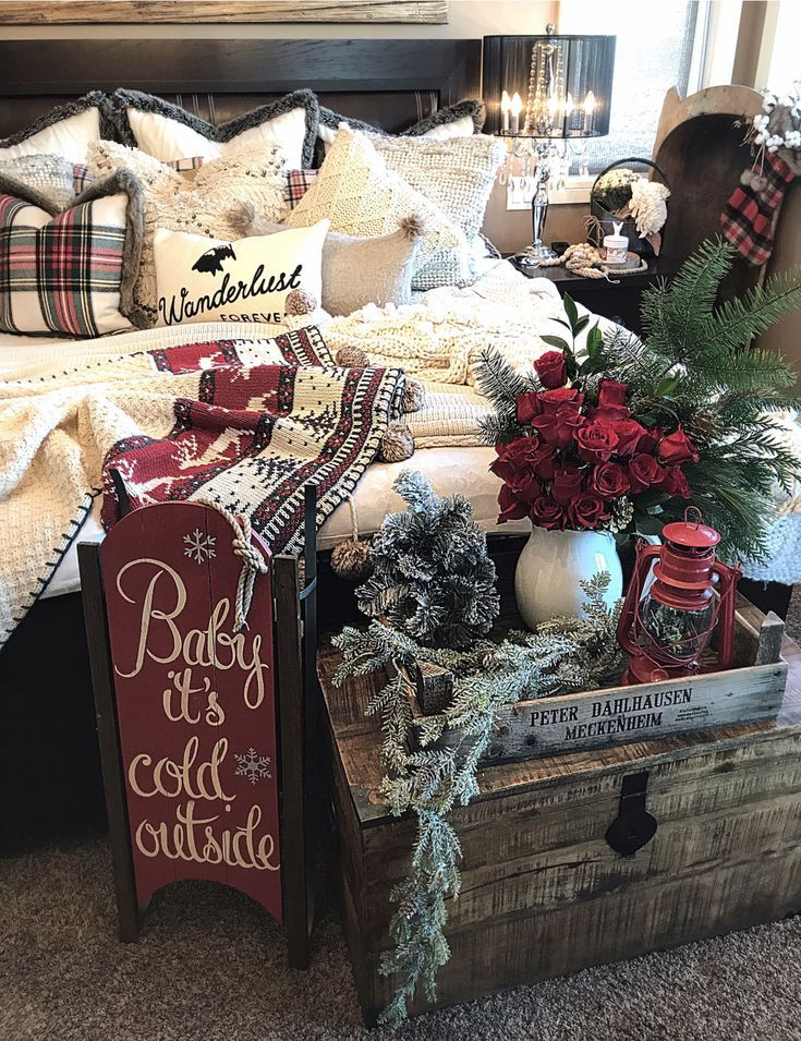 Homedecor Christmas Christmasdecor Homedecorideas Christmas Decorations Rustic Christmas Decorations Bedroom Christmas Decorations