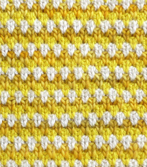 English Rose Tweed - Stitch Block Cowl - The Purl Bee