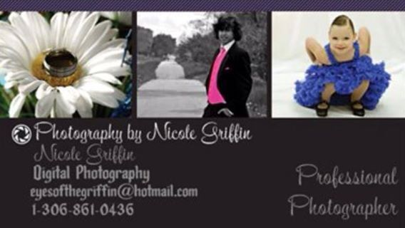 Business card.  Photography by Nicole Griffin