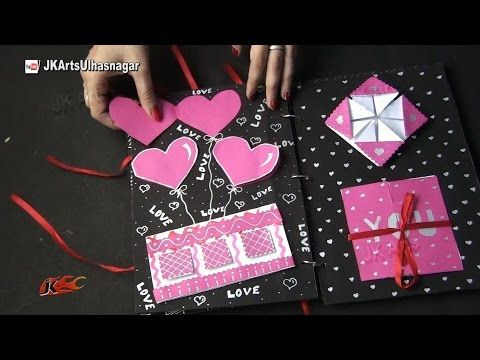 scrapbook Tutorial | 12 Greeting cards Scrapbook | Valentine's Day Gift Idea | JK Arts 984 - YouTube