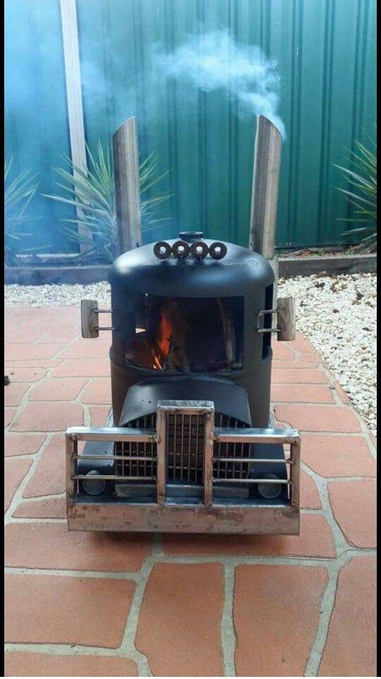 Truck heater / backyard fire