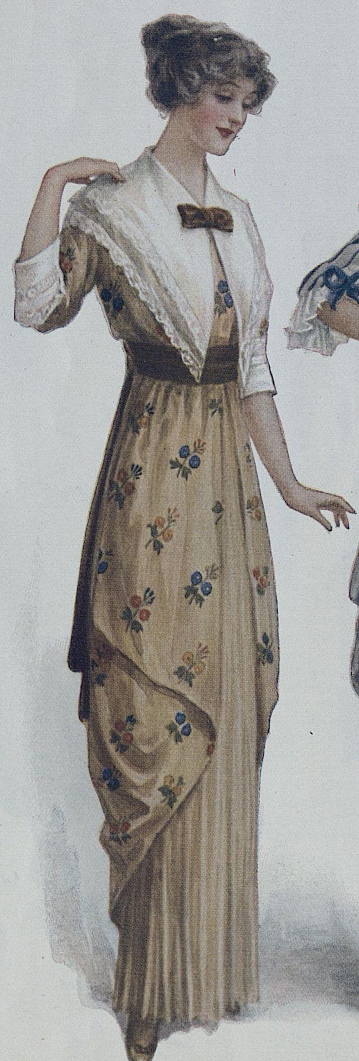 Ladies Home Journal. February, 1914 brown dress