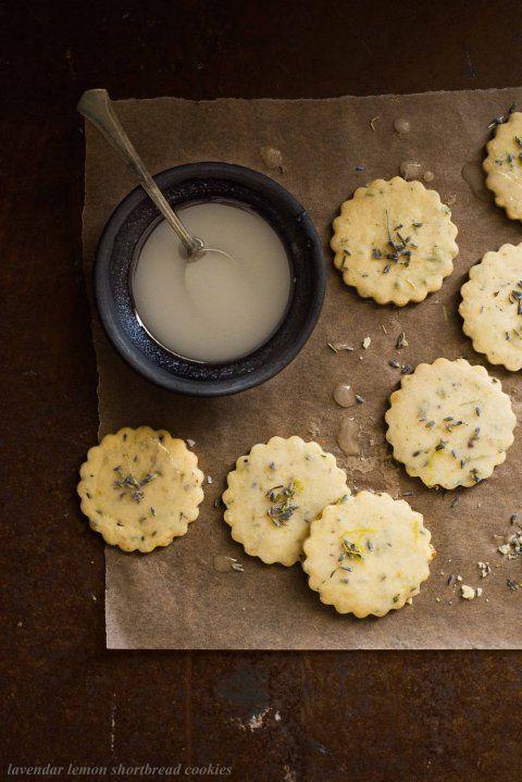 lavender lemon shortbread cookies