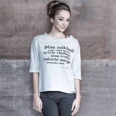 Forever B. grey sweatshirt, famous ballet dancers short sleeves - T-SHIRTS - Top…