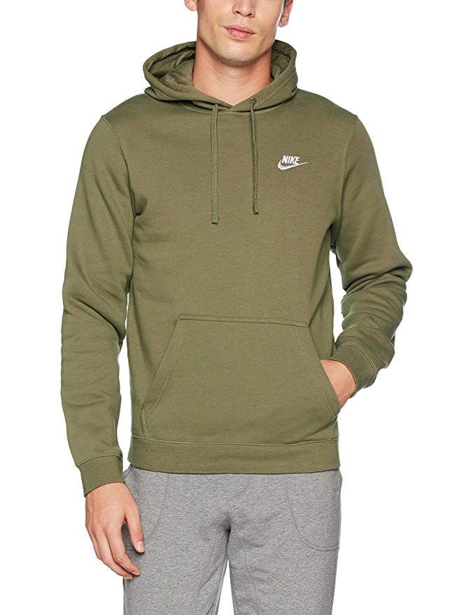7b5b783c3083 Amazon.com  NIKE Sportswear Men s Pullover Club Hoodie  Clothing ...