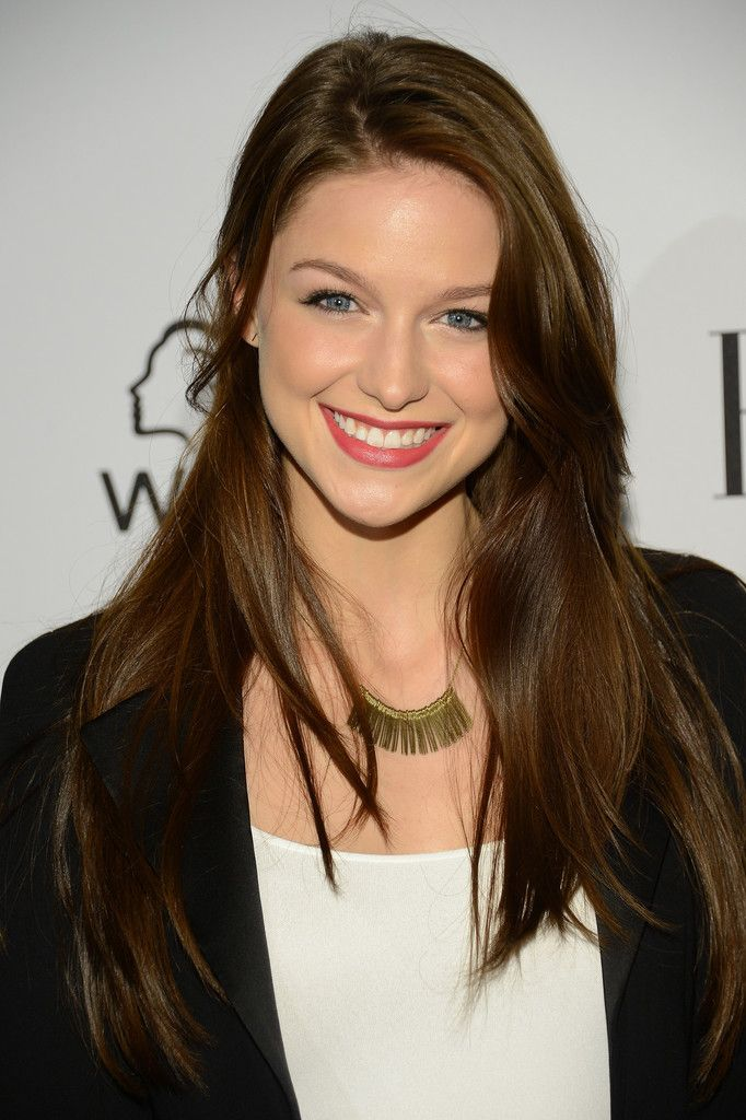 I Love The Natural Brown Of Her Hair Melissa Benoist In