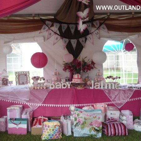 Where do I start... After weeks of planning, shopping, budgeting and weather watching, the big day finally arrived! Outlandish Events put together a beautiful baby shower. The theme was Ready to Pop & Butterflies chosen by my clients - it was a joint baby shower for both ladies and gentlemen. The ladies were set up