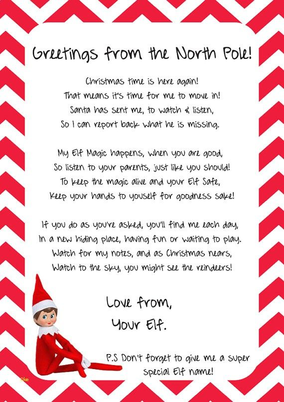 elf on the shelf arrival letter template letternew co editable
