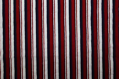 Stripes Cotton 4 way stretch Fabric By The 1/2 Yard