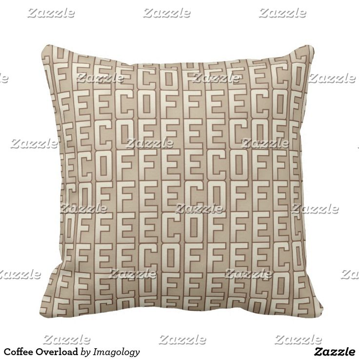 Coffee Overload Throw Pillow