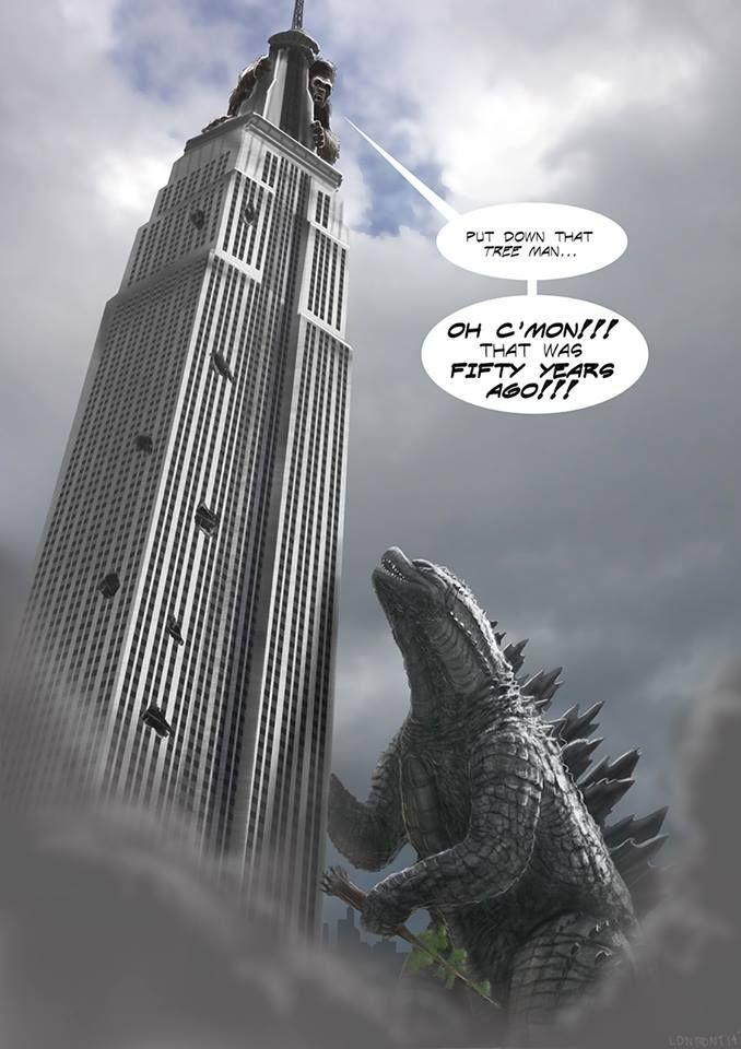 King Kong vs. Godzilla round 2