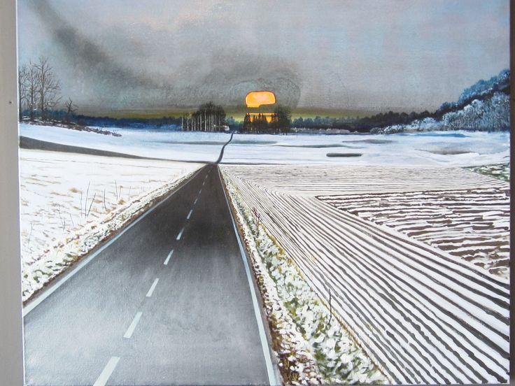 Søren Martinsen. Danish painter 1966 - New take on classical landscape