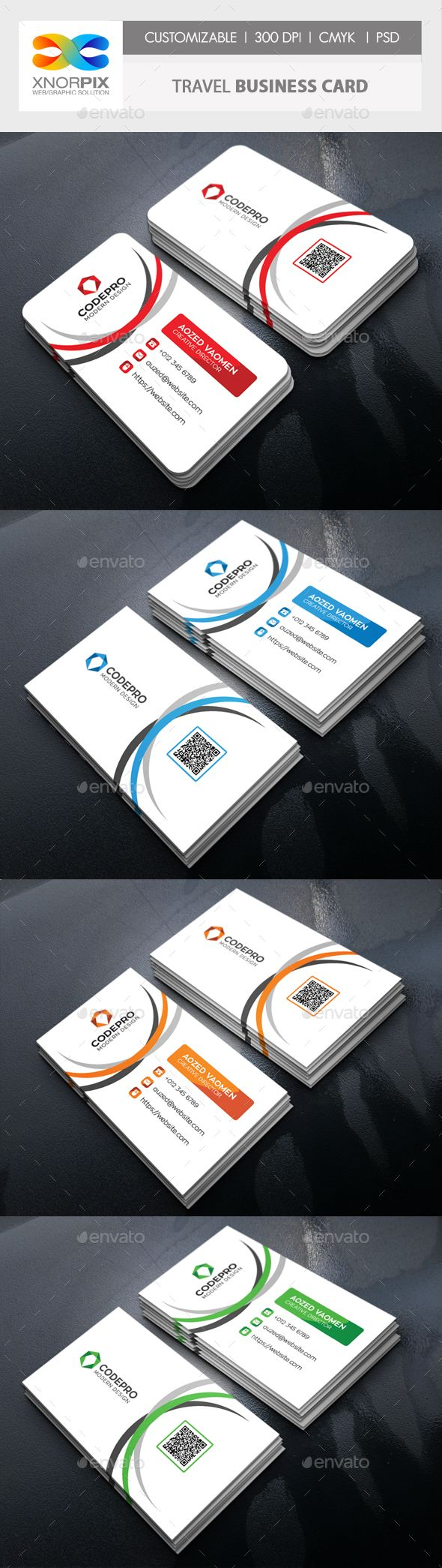 Travel #Business #Card - #Corporate Business Cards Download here:  https://graphicriver.net/item/travel-business-card/20446217?ref=alena994