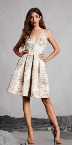 Dress the population |   Collette Brocade Dress