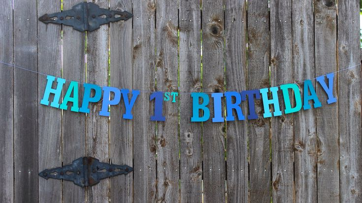 Happy 1st Birthday Banner,Personalized Birthday Banner, Under the Sea Party, Blue Birthday Banner, Baby Boy 1st Birthday, Nautical Birthday by MailboxHappiness on Etsy https://www.etsy.com/listing/242097395/happy-1st-birthday-bannerpersonalized