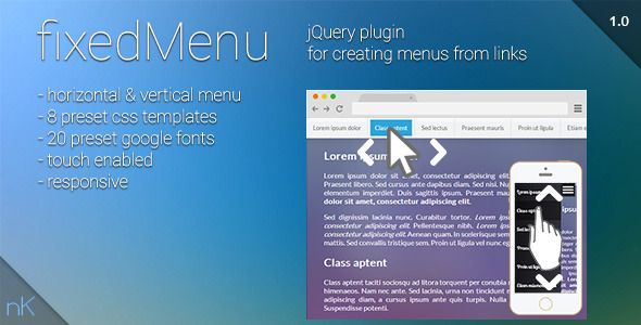 Fixed Menu – responsive horizontal, vertical menu (Navigation) | freeshortlinks
