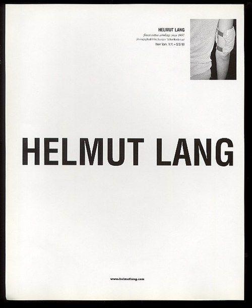 Finest cotton arm bag since 1997, Helmut Lang