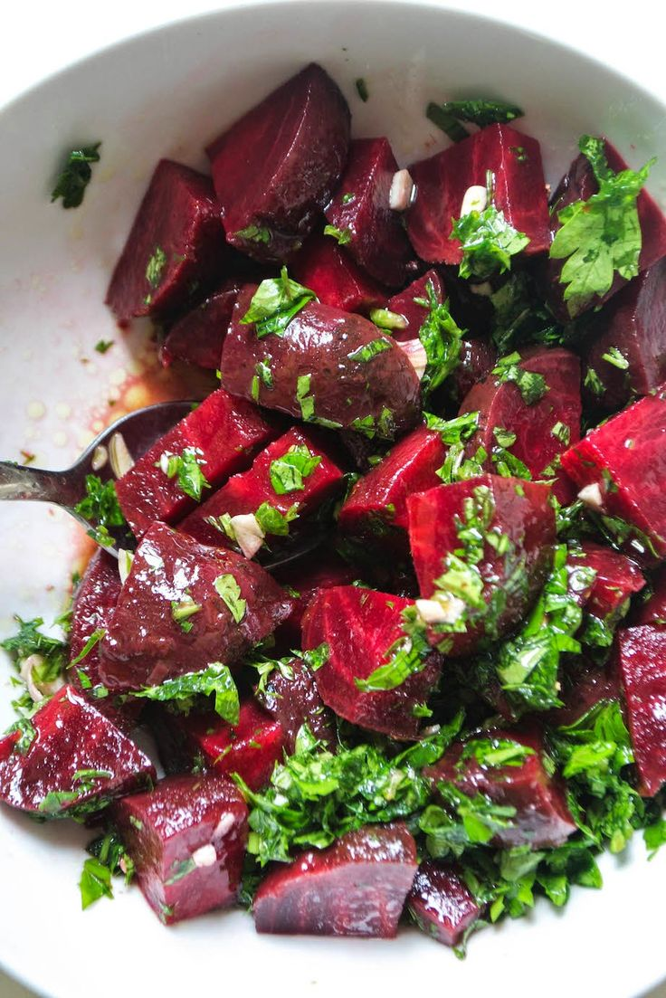 Beetroot Salad with Garlic and Parsley - AIP auto immune friendly