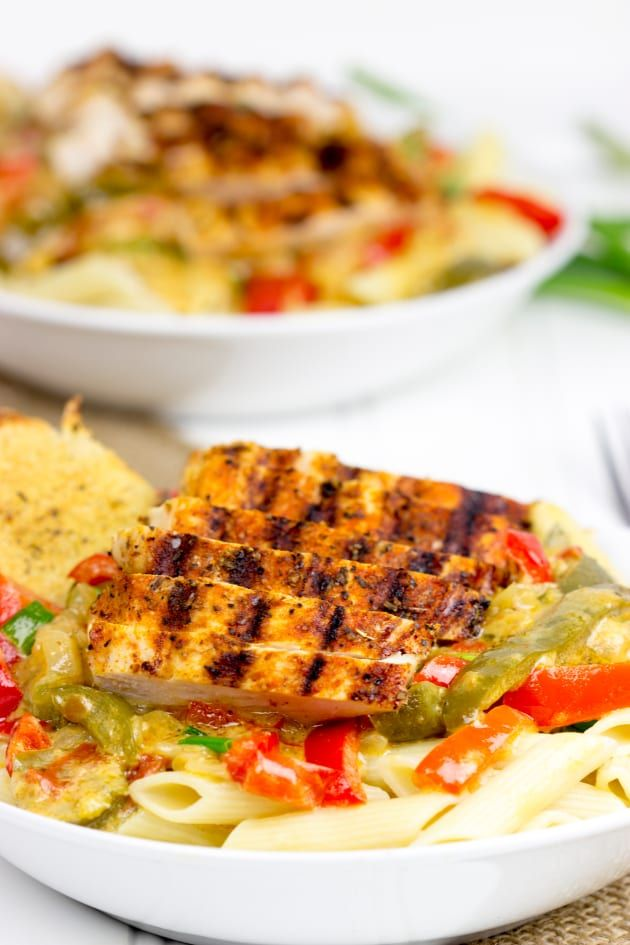 Blackened Chicken Pasta is made with Cajun blackened seasoning. Buy it at the store, or make your own!