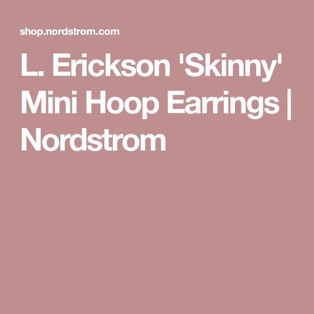 L. Erickson 'Skinny' Mini Hoop Earrings   Nordstrom