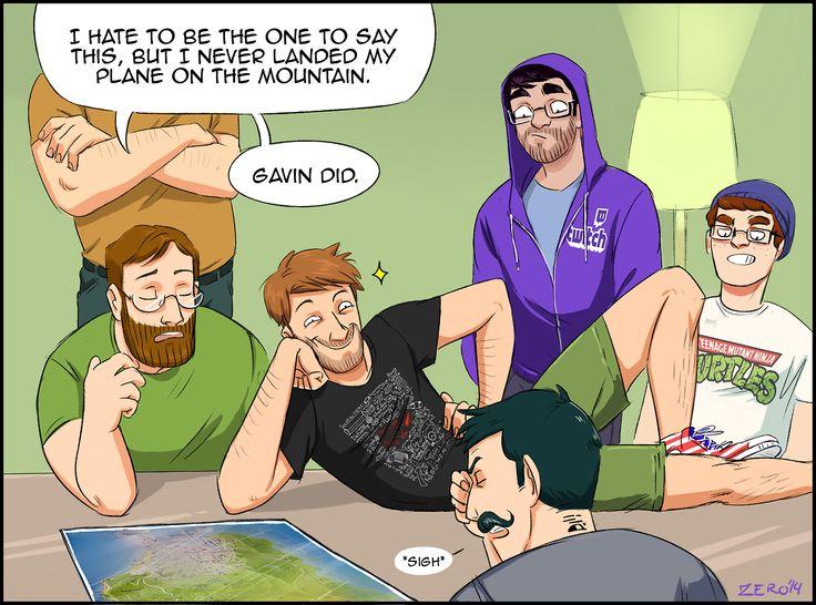 Achievement Hunter Heist: Gavin did. (by zerotation) (Let's Play GTA V: The Grand Heist)