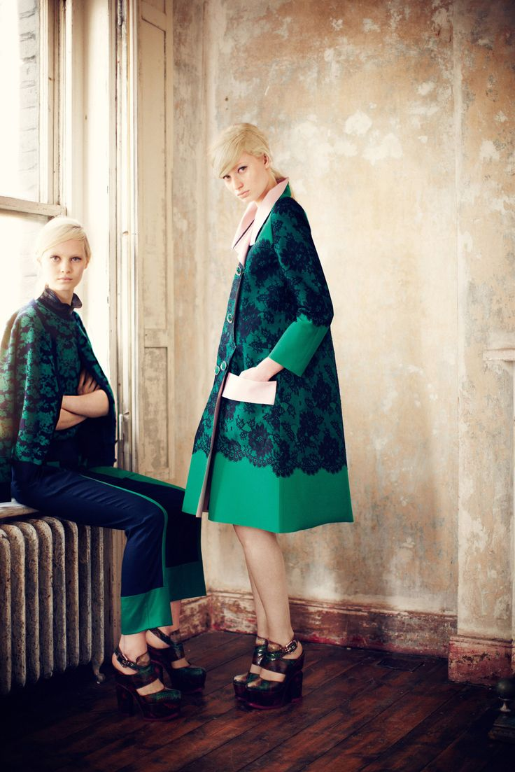 Steffi Soede and Stephanie Hall, Erdem Pre-Fall 2013 Collection Photos - Vogue