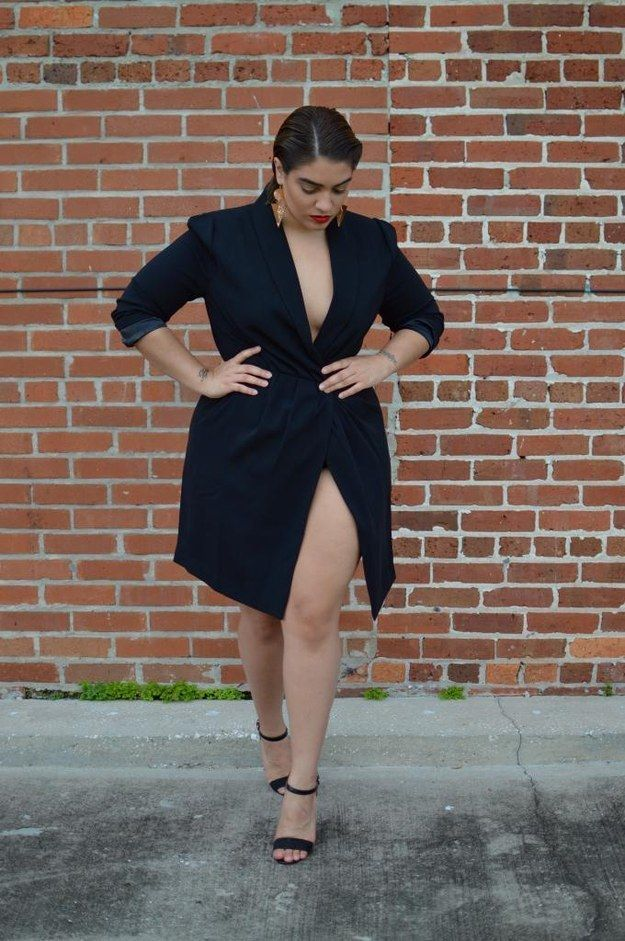 …but she's probably best known as a plus-size, street style fashion blogger. | 15 Style Tips From Nadia Aboulhosn, Your New Fashion Inspiration
