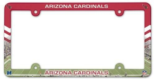 Arizona Cardinals License Plate Frame Full Color Style Special Order