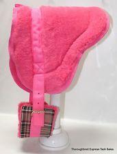 miniature horse tack | Tough-1 Pink Fleece Miniature Bareback Pad Horse Tack Equine