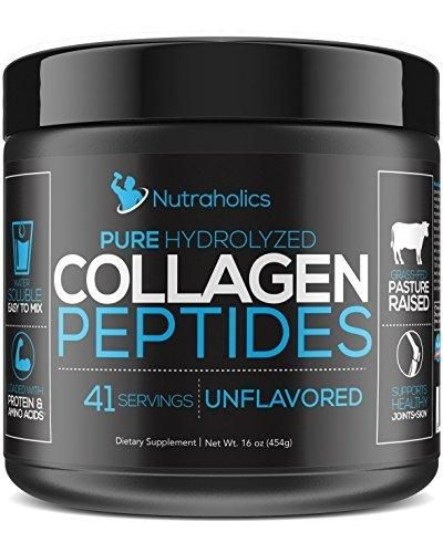 Pure Hydrolyzed Collagen Peptides (16 oz) Unflavored and Easy to Mix; 11 Grams of Type 1 & 3 of Collagen Per Serving