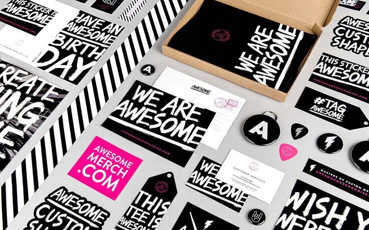 Awesome Merchandise identity design