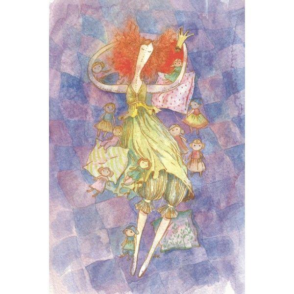 Princess dreams. Dolls. - Postcards, Watercolor